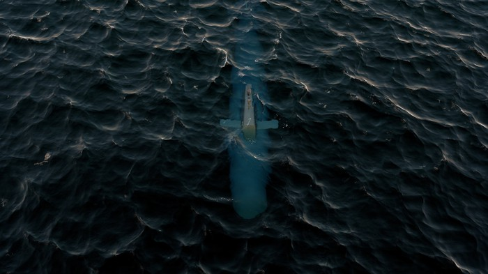 Submerged submarine