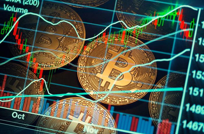 Bitcoin market trading chart.
