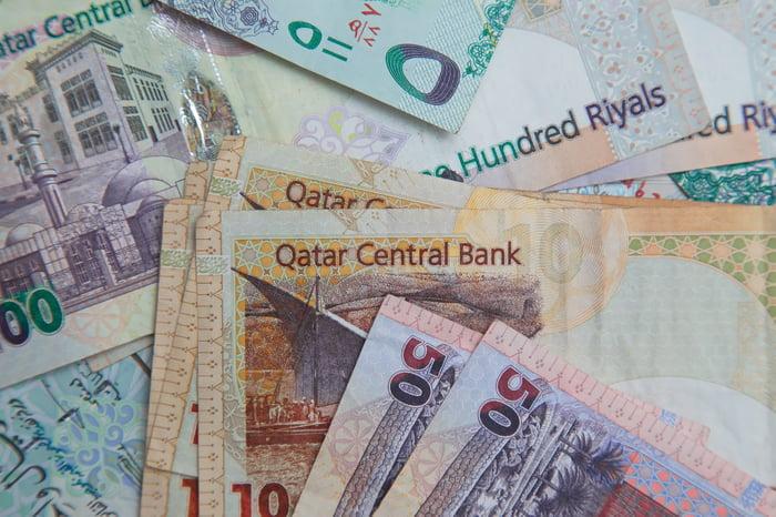 Qatar currency.