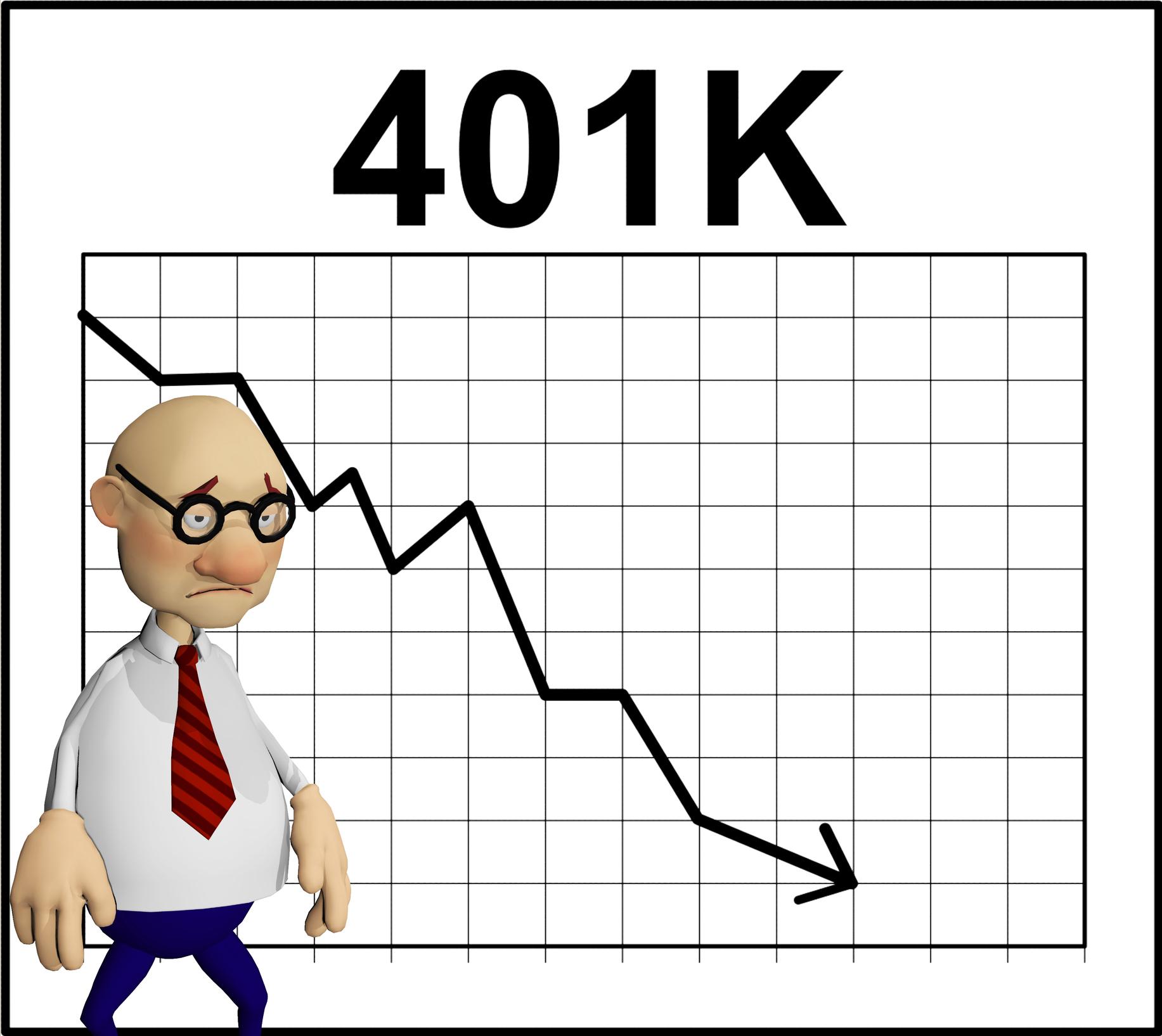 Sad guy with 401(k) graph