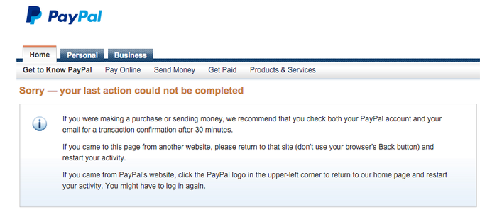 Why Isn't PayPal Fixing This Year-Old Glitch? -- The Motley Fool