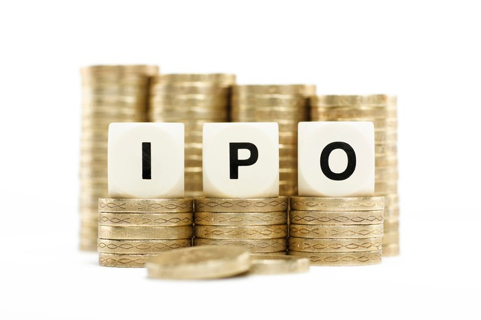 Stacks of coins with the letters IPO spelled out on top