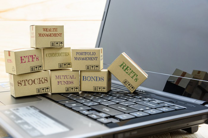 Boxes on a laptop