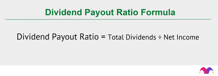 Here is the DPR formula:Total dividends÷ net income = dividend payout ratio.