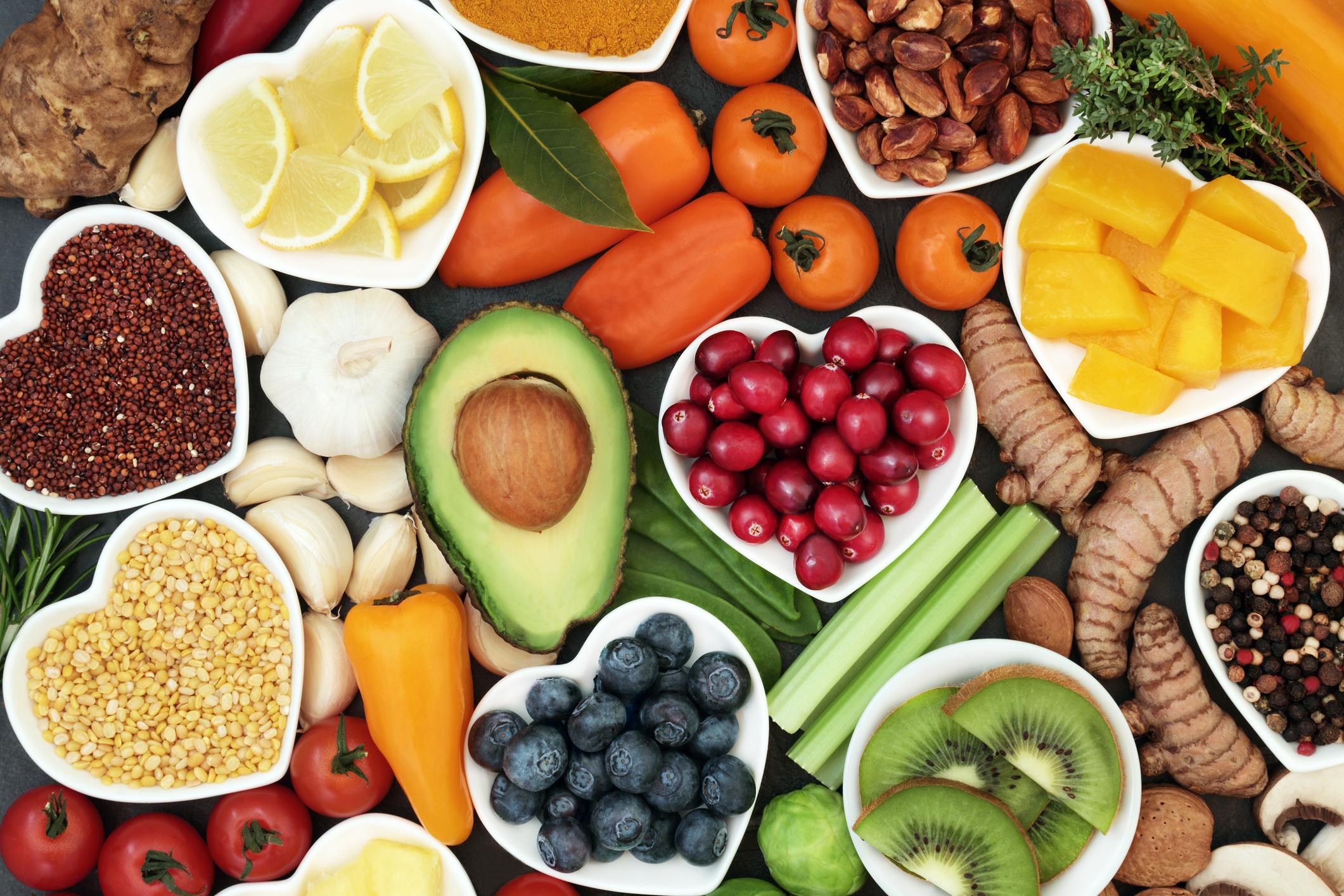 A sampling of organic produce.