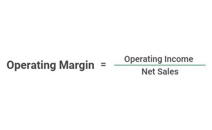 An equation showing how to calculate operating margin.