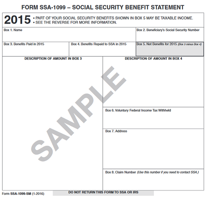 Form Ssa 1099 What Everyone On Social Security Should Know The