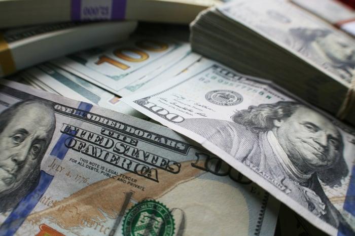 Several $100 bills