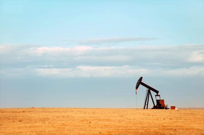 Oil pump in Nebraskan landscape