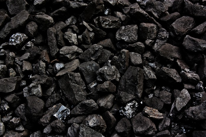 Black coal nuggets