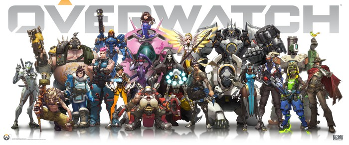 Characters from the Overwatch game