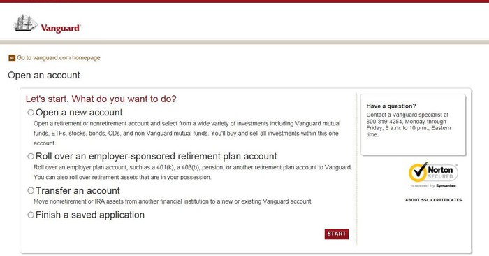 How To Sign Up For A Vanguard Brokerage Account A Step By Step Guide The Motley Fool