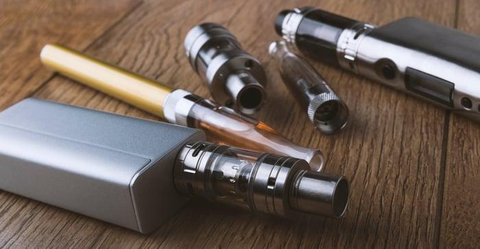 A vap pen, mod, and e-cigarette.