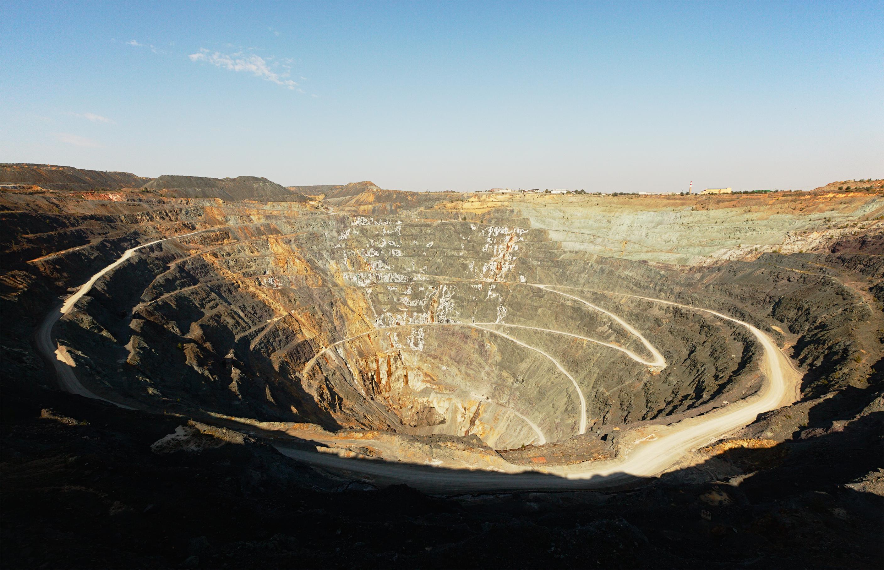 An open pit zinc mine.