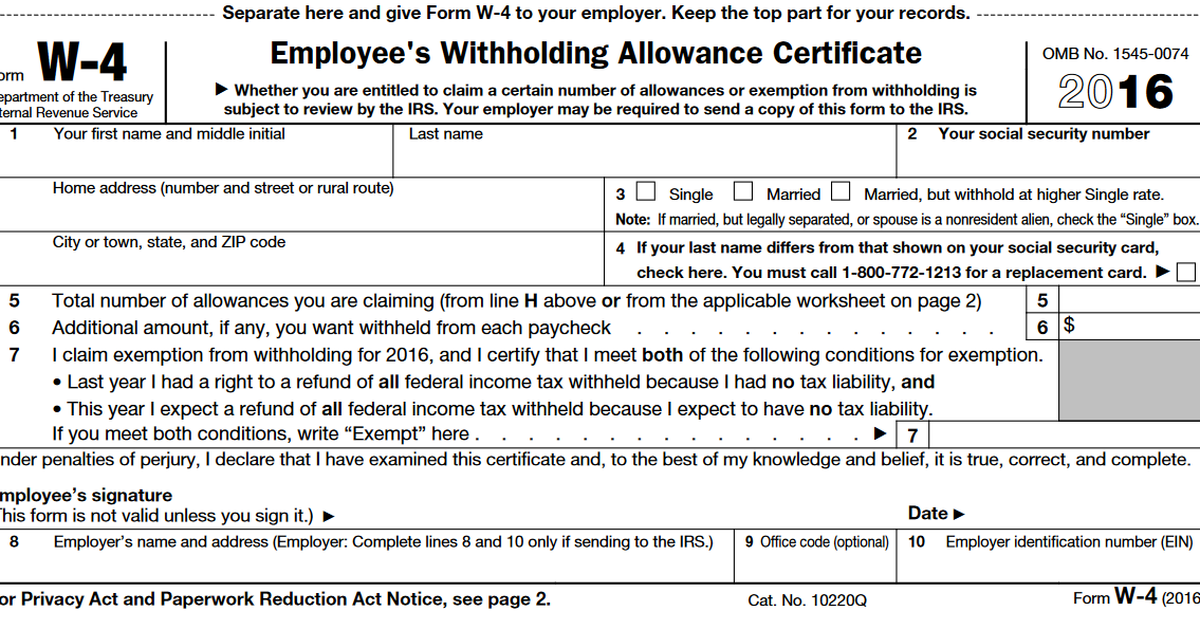 Should I Adjust My W-4 Withholding? -- The Motley Fool