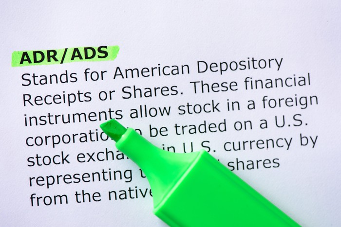 Written definition of ADR/ADS, with ADR/ADS highlighted in a green marker, which hovers over the definition.