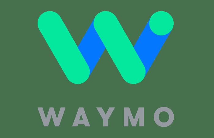 Waymo logo that's a big W and says Waymo under the W.