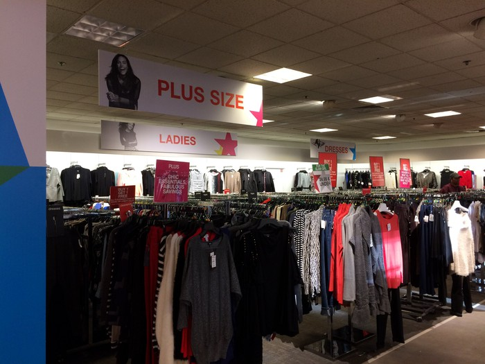 Plus size ladies' department in Macy's Backstage