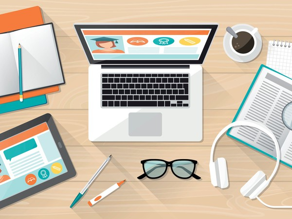 Online Education Animated Student Workspace