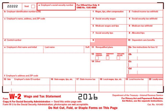 Irs Form W 2 What Every Taxpayer Needs To Know The Motley Fool
