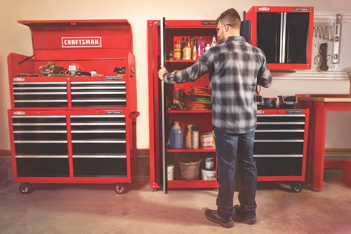 Craftsman 32-inch-wide freestanding tall garage storage cabinet