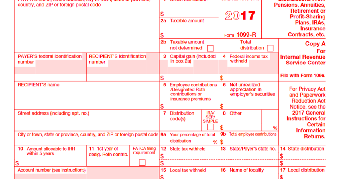 Irs Form 1099 R What Every Retirement Saver Should Know The