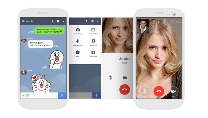 Like Facebook, Line lets users make VoIP calls.