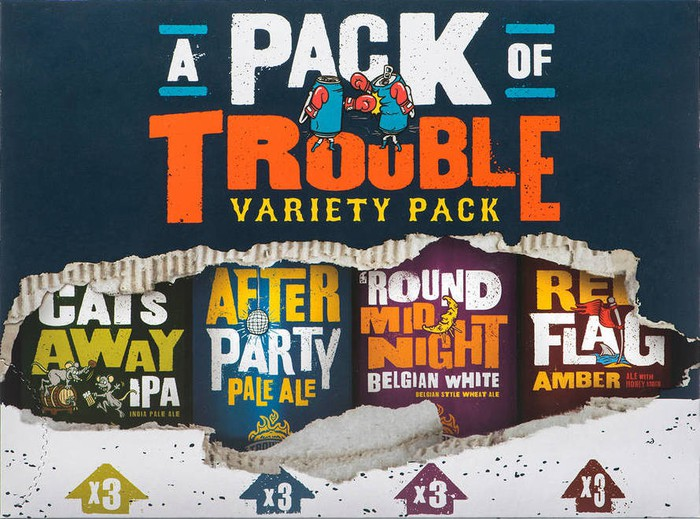 Craft-beer varieties from Trouble Brewing.