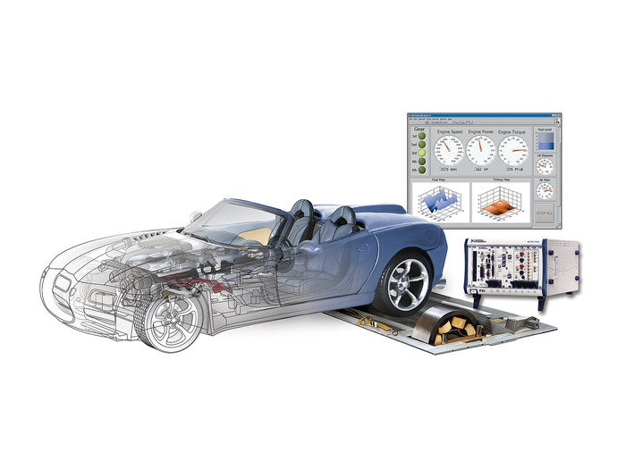 National Instruments autonomous vehicle testing system.