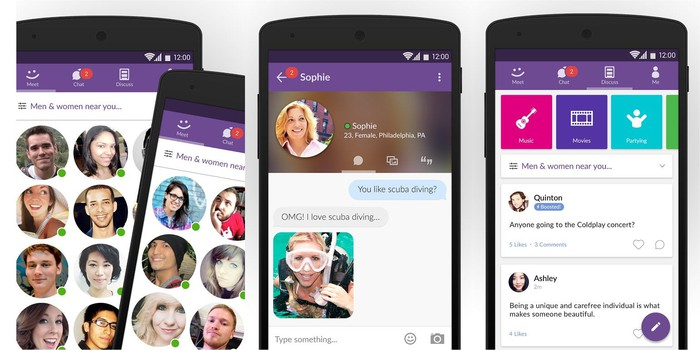 MeetMe's mobile app lets millions of users interact with strangers in their area.