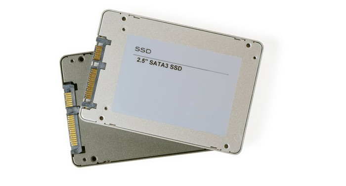 SSDs (solid state drives) store data on NAND chips.