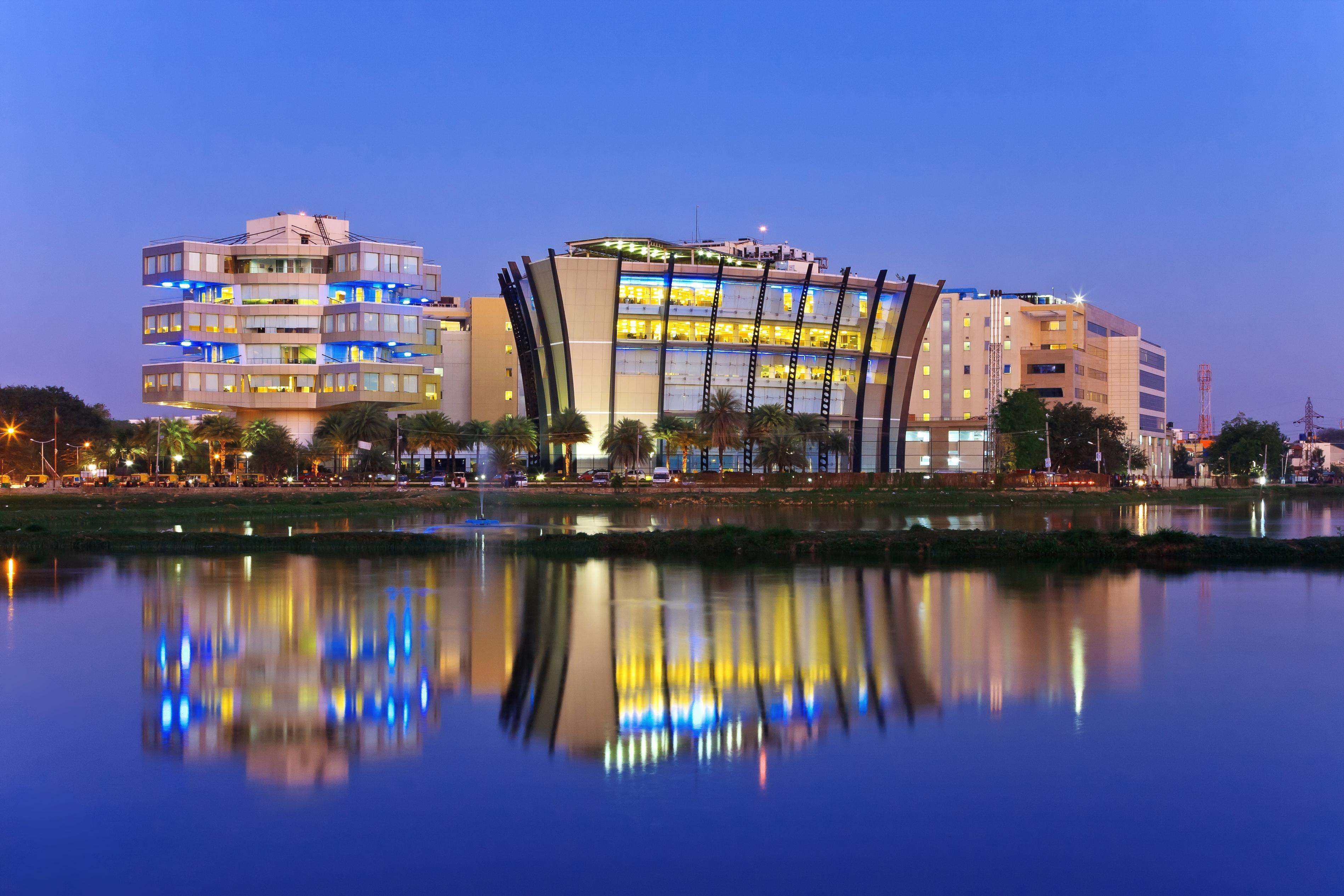 Bengaluru city skyline.