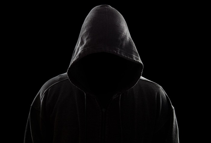 Hooded and mysterious man