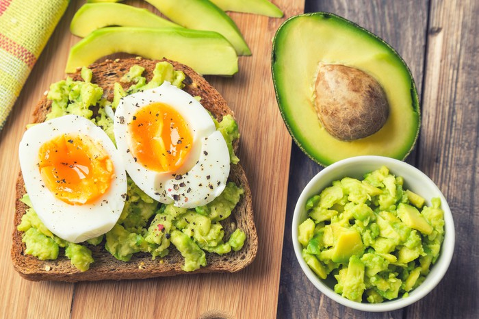 Avocados and eggs on toast