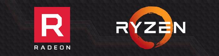 The Radeon and Ryzen logos.