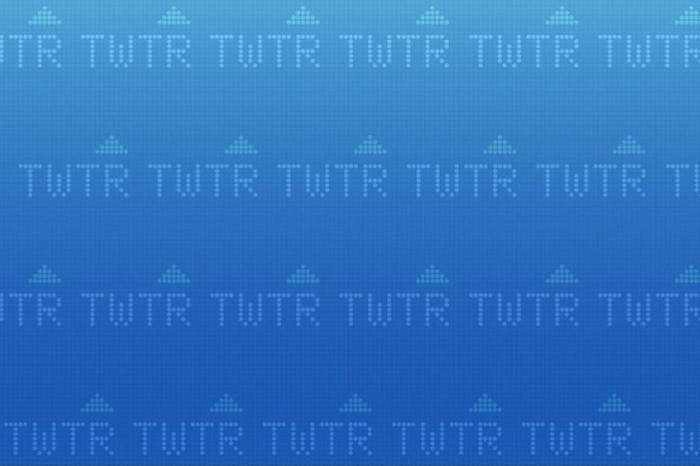 Background graphic with Twitter's TWTR ticker symbol.