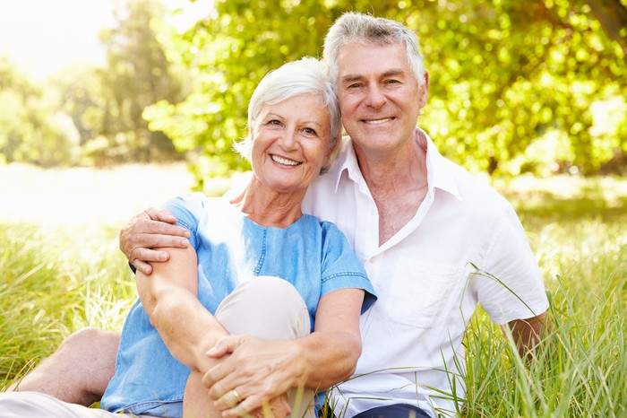 Senior couple at the park