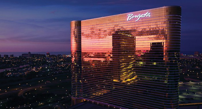 MGM Resort's Borgata resort and casino in Atlantic City at night