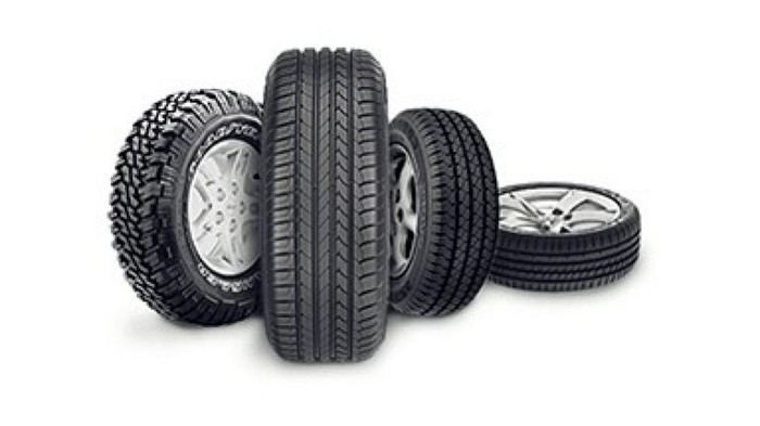 A set of Goodyear tires