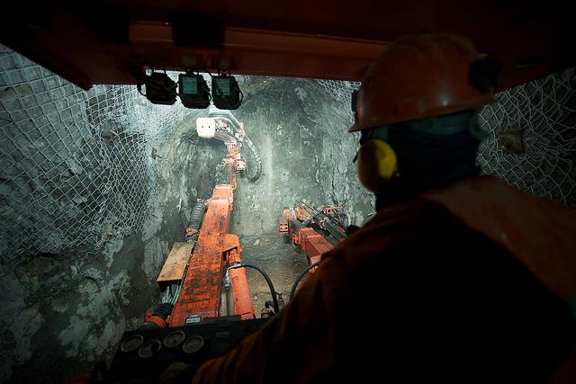 Mining the Eureka vein at Cerro Negro