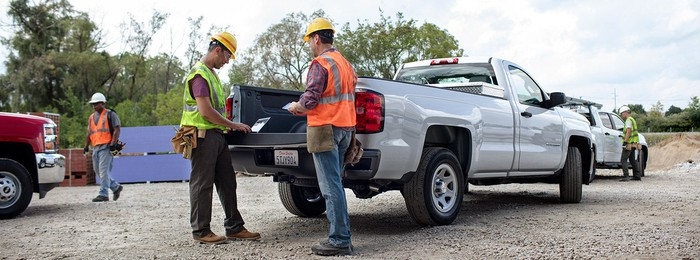 2017 Chevy Silverado 1500 at worksite