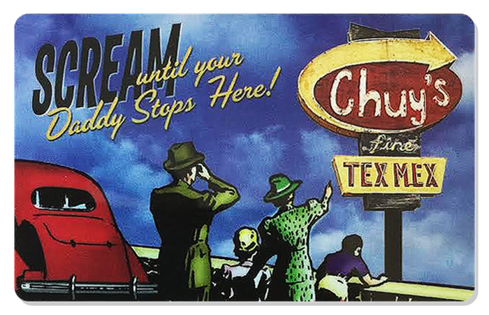 A Chuy's gift card.