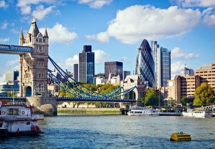 Commercial properties in London with Tower Bridge at the forefront