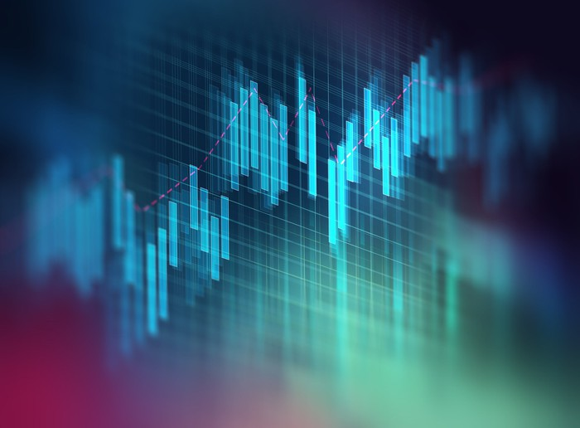 Image of stock price chart.