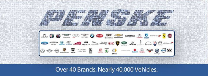 Penske: Over 40 brands. Nearly 40,000 vehicles.