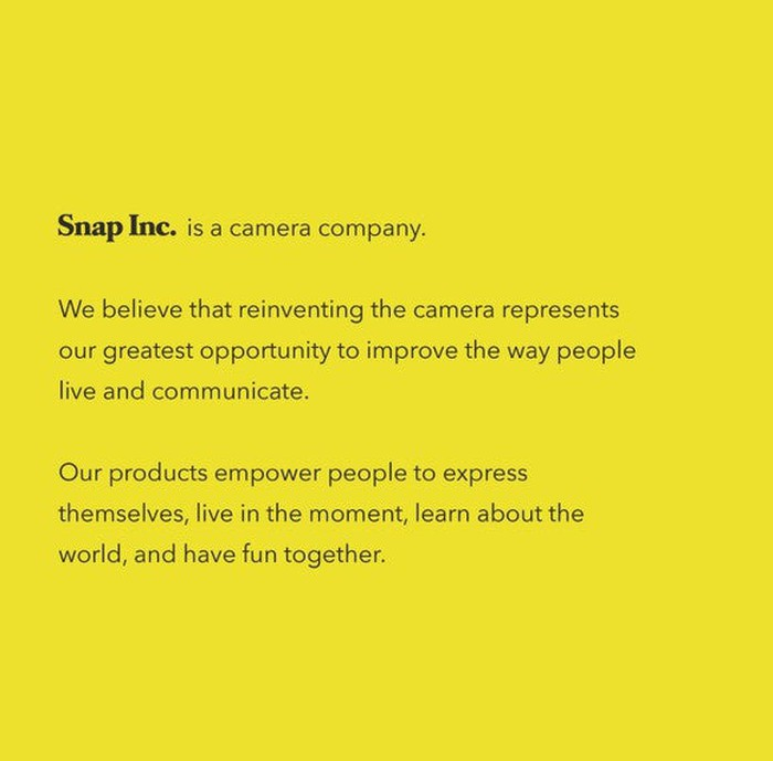 Snap corporate description