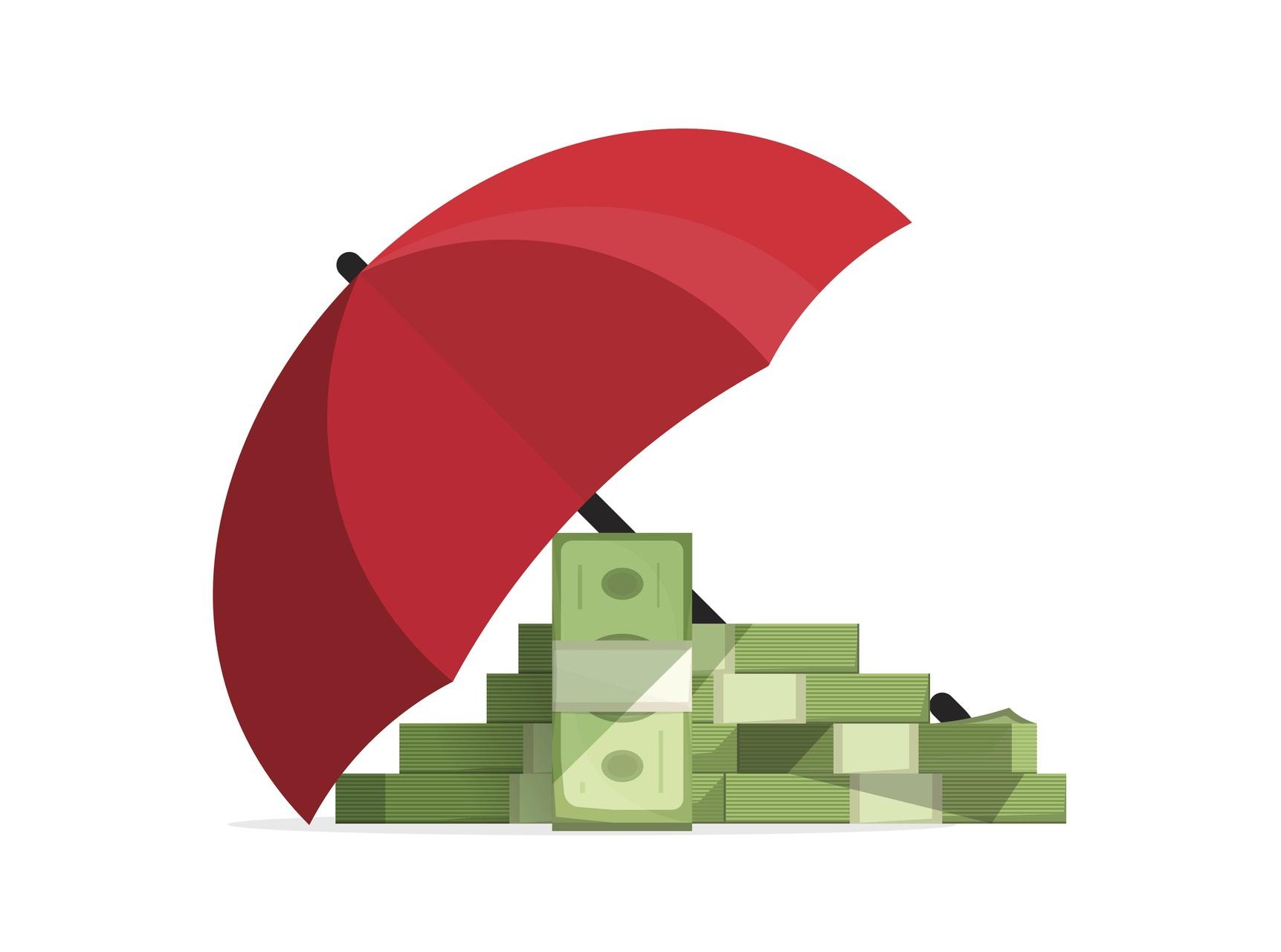 Umbrella over money