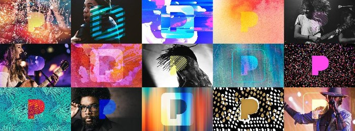 Collage of artists on Pandora