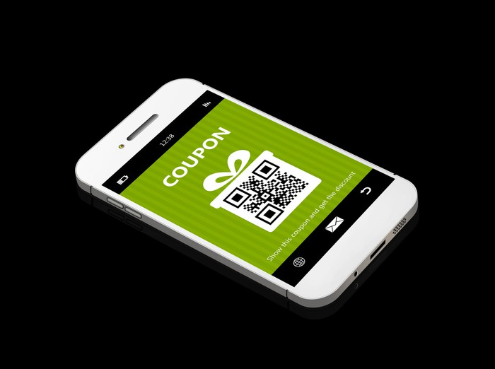 Digital coupon on smartphone