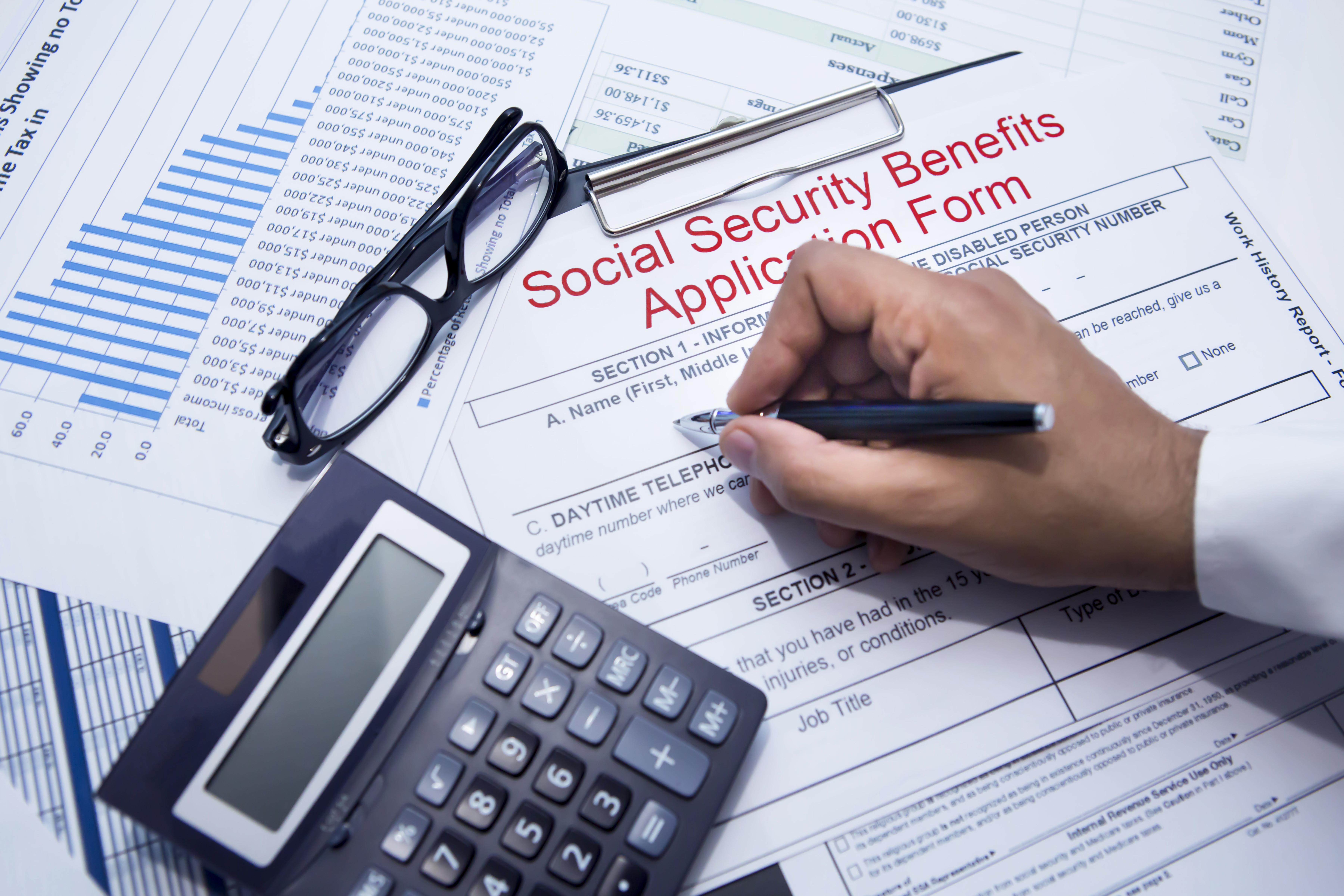 Social Security enrollment form.